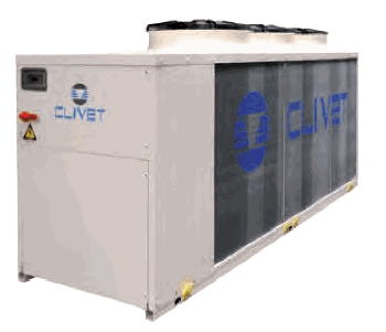Large air cooled fluid chiller clivet